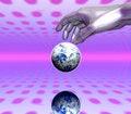Free Hand And Globe Royalty Free Stock Photo - 4120315