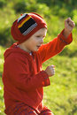 Free Cheerful Little Boy Stock Image - 4128581