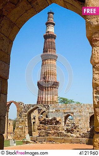 Line Drawing Of Qutub Minar : Qutub minar delhi free stock photos images