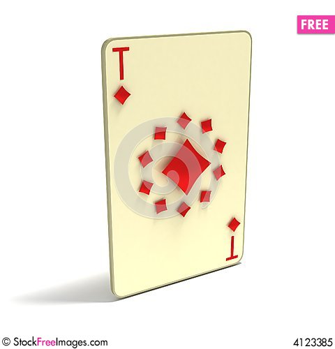 Free Playing Card: Ace Of Clubs As 11 Spots. 3D Playing Royalty Free Stock Photo - 4123385