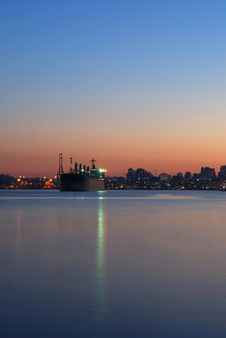 Vancouver Habor At Sunset Royalty Free Stock Images