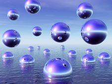 Free Water Balls Royalty Free Stock Images - 4120359