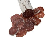 Free Slices Of Summer Sausage Royalty Free Stock Image - 4120526
