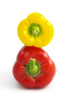 Free Two Peppers - Yellow And Red Stock Images - 4120734
