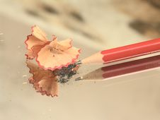 Free Sharpened Pencil And Wood Shavings Stock Photography - 4121172