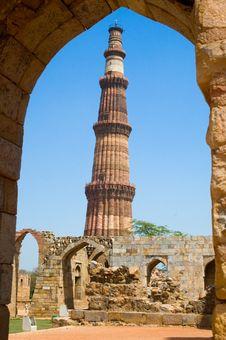Free Qutub Minar Delhi Stock Photo - 4121960