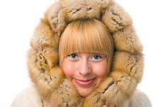 Free Woman In Fur Stock Photos - 4122163