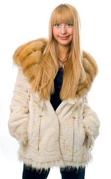 Free Woman In Fur Stock Photo - 4122180