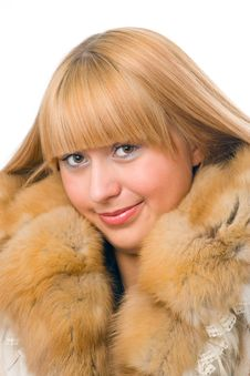 Free Woman In Fur Royalty Free Stock Photos - 4122228