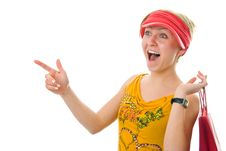 Free Happy Shopping Woman Royalty Free Stock Images - 4122259
