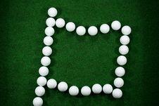 Free Golfballs As A Flag Stock Photos - 4122403