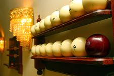 Free Billiard Spheres Royalty Free Stock Images - 4122969