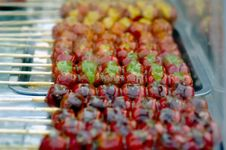 Free Tomatoes On Sticks Royalty Free Stock Images - 4123079