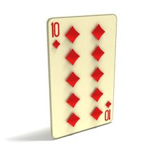 Free Playing Card: Ten Of Diamonds Stock Photos - 4123423