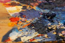 Artist S Pallette Royalty Free Stock Photos