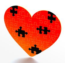 Free Heart Puzzle Stock Photography - 4123612