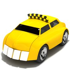 Toothed Taxi Royalty Free Stock Photo