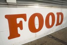 Free Food Sign Stock Photography - 4124072