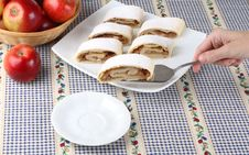 Free Apple Roll (strudel) Stock Photography - 4124882