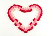 Candy Corns In Heart Shape Royalty Free Stock Image
