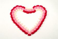 Candy Corns In Heart Shape 02 Stock Images