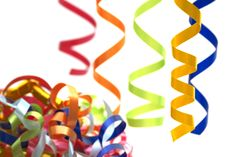 Free Colorful Streamers Stock Photography - 4125692