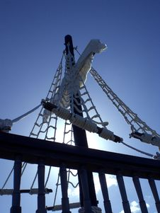 Pirate Ship Rigging Stock Photography