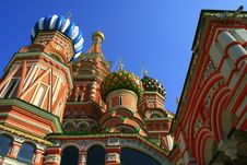 Free Multi-coloured Domes Of Church Stock Image - 4126251