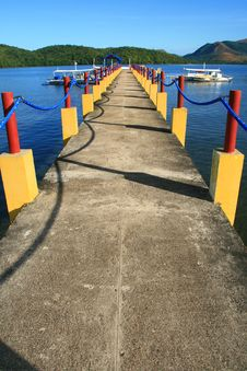 Free Pier At A Resort 1 Stock Photo - 4126740