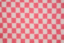 Free Wool Red White Square Texture Stock Photo - 4127010