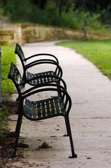 Free Empty Benches Stock Image - 4127471