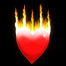 Free Heart On Fire Royalty Free Stock Photo - 4127475