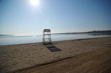 Free Lifeguard Bench At Lake Royalty Free Stock Image - 4127796