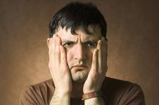 Free Portrait Sad Men Stock Photography - 4128342
