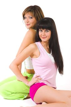 Free Two Girls In Underwear Royalty Free Stock Photos - 4128368