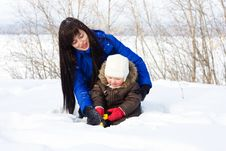 Free Playing With Snow Stock Image - 4129161