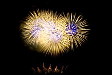 Free Fireworks Lighting Up The Sky Stock Photography - 4129202