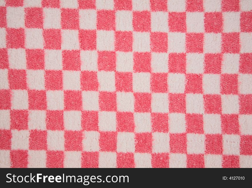 Wool red white square texture
