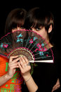 Free Girls With A Spanish Fan Royalty Free Stock Photography - 4130797