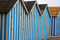Free Blue Cabanas At The Beach Stock Image - 4131861