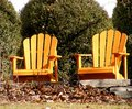 Free Two Adirondack Chairs Royalty Free Stock Photography - 4131897
