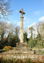 Free Stone Cross In An English Cemetery Stock Photos - 4132853