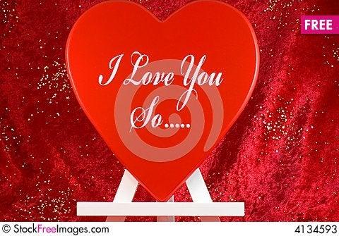 Free Valentine Message Stock Photos - 4134593
