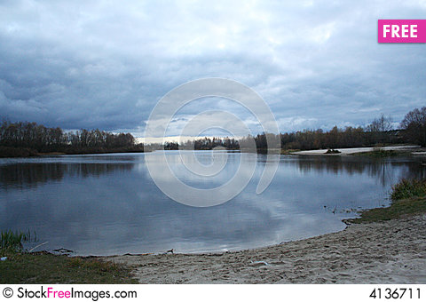 Free Water Glance Reflections In The Dusk Stock Image - 4136711