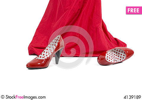 Free Red Shoes Royalty Free Stock Images - 4139189