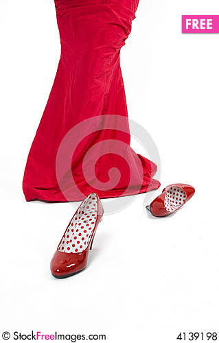 Free Red Shoes Royalty Free Stock Photos - 4139198