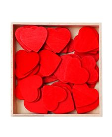 Free Box With Hearts Stock Image - 4130251