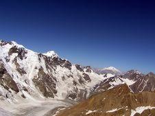 Free Elbrus And Bezengi Royalty Free Stock Image - 4130566