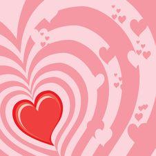 Free Hearts Background (illustratio Royalty Free Stock Photos - 4130808