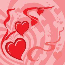 Free Hearts Background (illustratio Royalty Free Stock Photo - 4130815